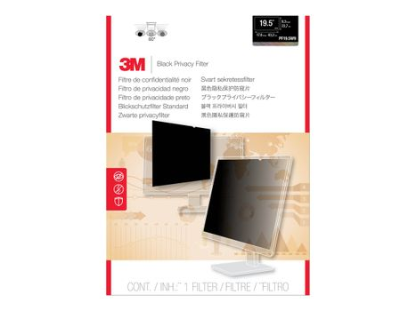 """3M personvernfilter for 19,5"""" widescreen - personvernfilter for skjerm - 19,5"""" bredde (PF19.5W9)"""