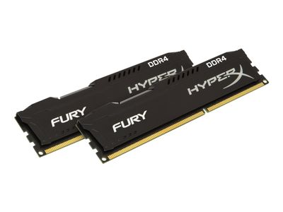 Kingston HyperX FURY - DDR4 - 32 GB: 2 x 16 GB - DIMM 288-pin - 2133 MHz / PC4-17000 - CL14 - 1.2 V - ikke-bufret - ikke-ECC - svart (HX421C14FBK2/32)