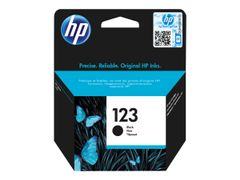 HP 123 - Svart - original - blister - blekkpatron - for Deskjet 2130, 26XX, 3630, 37XX; Envy 4523, 50XX; Officejet 3835, 4655, 52XX