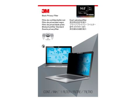 """3M personvernfilter for 14"""" Laptops 16:9 with COMPLY notebookpersonvernsfilter (PF140W9E)"""