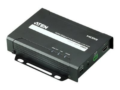 ATEN VE802R HDMI HDBaseT-Lite Receiver with POH - video/ lyd/ infrarød/ seriell-utvider - HDMI, HDBaseT (VE802R-AT-G)
