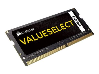 Corsair Value Select - DDR4 - 4 GB - SO DIMM 260-pin - 2133 MHz / PC4-17000 - CL15 - 1.2 V - ikke-bufret - ikke-ECC (CMSO4GX4M1A2133C15)