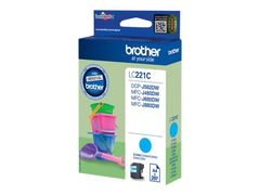 Brother LC221C - Cyan - original - blekkpatron - for Brother DCP-J562DW,  MFC-J480DW,  MFC-J680DW,  MFC-J880DW