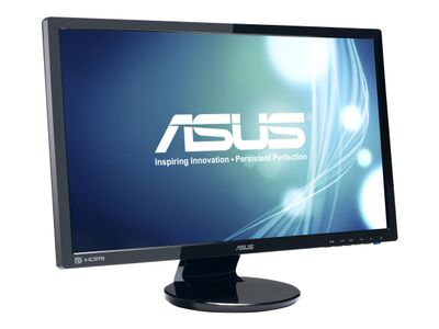 "ASUS VE248HR - LED-skjerm - 24"" - 1920 x 1080 Full HD (1080p) - 250 cd/m² - 1 ms - HDMI, DVI-D, VGA - høyttalere - svart (90LMC3001Q02231C-)"