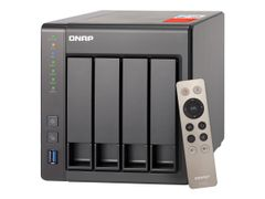 QNAP TS-451+ - NAS-server - 4 brønner - SATA 6Gb/s - RAID 0, 1, 5, 6, 10, JBOD, 5 hot spare - RAM 2 GB - Gigabit Ethernet - iSCSI