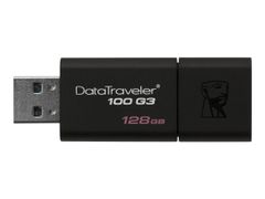 Kingston DataTraveler 100 G3 - USB-flashstasjon - 128 GB - USB 3.0 - svart