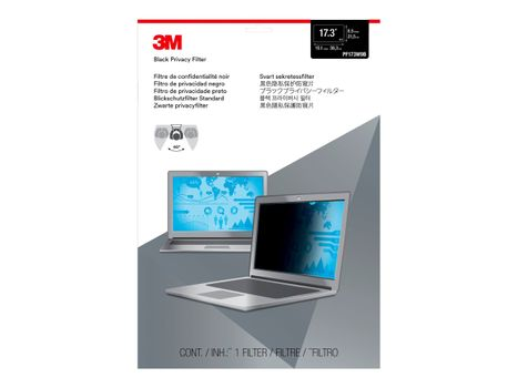 "3M personvernfilter for 17.3"" Widescreen Laptop with COMPLY Attachment System notebookpersonvernsfilter (PF173W9B)"