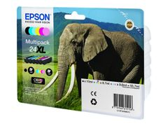 Epson 24XL Multipack - 6-pack - 55.7 ml - XL - svart, gul, cyan, magenta, lys magenta, lys cyan - original - blister - blekkpatron - for Expression Photo XP-55, 750, 760, 850, 860, 950, 960; Expression Prem
