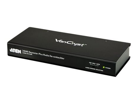 ATEN VanCryst VC880 HDMI Repeater Plus Audio De-embedder - video/ lyd-forlenger (VC880-AT-G)