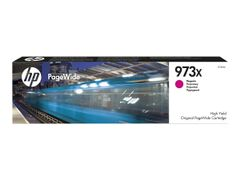 HP 973X - Høy ytelse - magenta - original - PageWide - blekkpatron - for PageWide Managed MFP P57750, P55250; PageWide Pro 452, 477