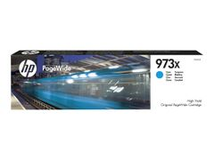 HP 973X - Høy ytelse - cyan - original - PageWide - blekkpatron - for PageWide Managed MFP P57750, P55250; PageWide Pro 452, 477