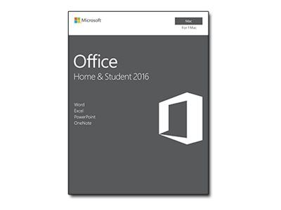 Microsoft Office for Mac Home and Student 2016 - Bokspakke - 1 Mac - ikke-kommersiell - medieløs, P2 - Mac - Nordisk (GZA-00890)