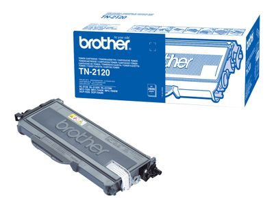 Brother TN-2120 - Svart - original - tonerpatron - for Brother DCP-7030, 7040, 7045, HL-2140, 2150, 2170, MFC-7320, 7440, 7840; Justio DCP-7040 (TN2120)