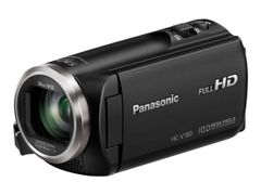PANASONIC HC-V180 - Videoopptaker - 1080 p / 50 fps - 2.51 MP - 50optisk x-zoom - flashkort - svart