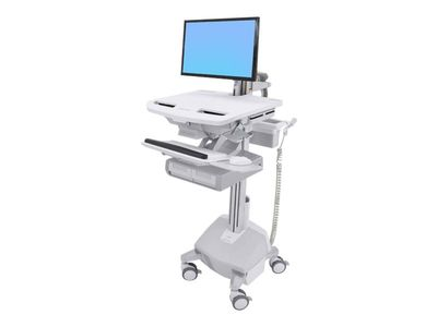 ERGOTRON StyleView Cart with LCD Arm, LiFe Powered, 2 Drawers - vogn (åpen arkitektur) (SV44-12A2-2)