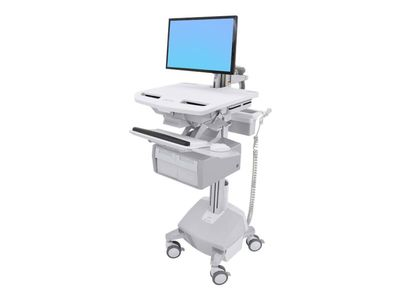 ERGOTRON StyleView Cart with LCD Arm, LiFe Powered, 2 Tall Drawers - vogn (åpen arkitektur) (SV44-12C2-2)