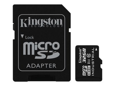Kingston Flashminnekort (microSDHC til SD-adapter inkludert) - 32 GB - UHS Class 1 / Class10 - microSDHC UHS-I (SDCIT/32GB)