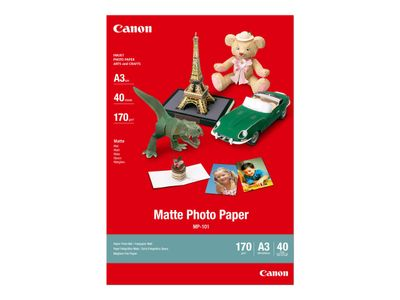 Canon MP-101 - A3 (297 x 420 mm) - 170 g/m² - 40 ark fotopapir - for i6500, 9100, 9950; PIXMA iX7000; S6300, 9000 (7981A008)