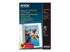 Epson Premium Semigloss Photo Paper - Halvblank - A4 (210 x 297 mm) 20 ark fotopapir - for EcoTank ET-2751, 2756; Expression Home HD XP-15000; Expression Premium XP-540, 6000, 6005
