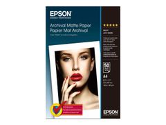 Epson Archival Matte Paper - Matt - A4 (210 x 297 mm) - 189 g/m² - 50 ark papir - for Expression Home XP-245, 342, 442; SureColor P800, SC-P5000, T3100, T3400, T5100, T5400