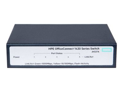 Hewlett Packard Enterprise HPE OfficeConnect 1420 5g - switch - 5 porter - ikke-styrt (JH327A#ABB)