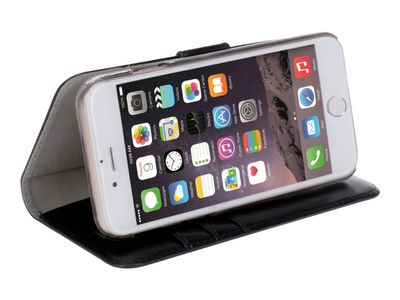KRUSELL Ekerö FolioWallet 2in1 - Lommebok for mobiltelefon - kunstlær - svart - for Apple iPhone 7 (60724)