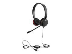 Jabra Evolve 30 II MS stereo - Hodesett - on-ear - kablet - USB, 3,5 mm jakk