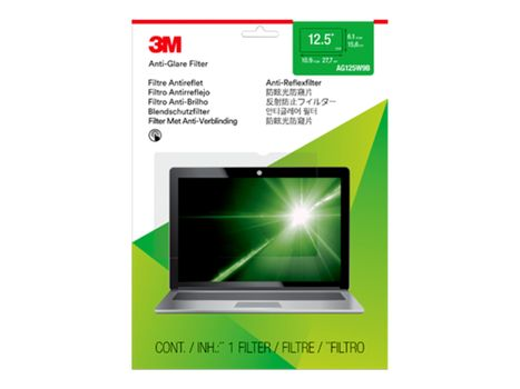 "3M Anti-Glare-filter for bærbar datamaskin med 12,5"" widescreen blendfri filter for notebook (AG125W9B)"