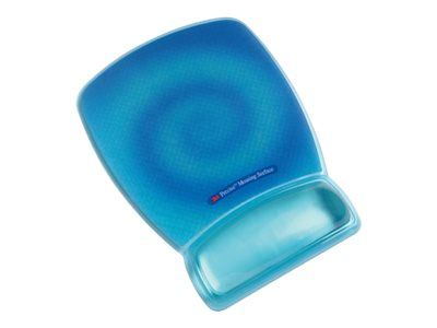 3M Precise Mousing Surface with Gel-Filled Wrist Rest Blue Swirl Design MWJ309BE - Musematte med håndleddsstøtte - blå (70-0710-8078-5)