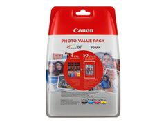 Canon CLI-551XL C/M/Y/BK Photo Value Pack - 4-pack - 11 ml - svart, gul, cyan, magenta - original - blister - blekkbeholder - for PIXMA iP8750, iX6850, MG5550, MG5650, MG5655, MG6450, MG6650, MG7150, MG7550