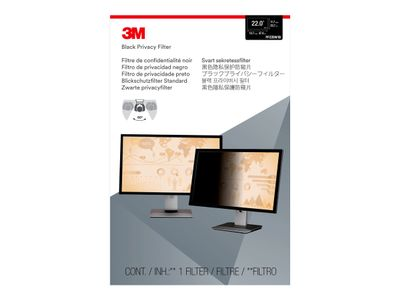 "3M personvernfilter for 22"" widescreen - personvernfilter for skjerm - 22"" bredde (PF220W1B)"