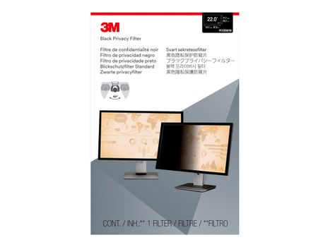 """3M personvernfilter for 22"""" Monitors 16:10 - personvernfilter for skjerm - 22"""" bredde (PF220W1B)"""