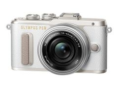 OLYMPUS PEN E-PL8 - Digitalkamera - speilløst - 16.1 MP - Four Thirds - 1080 p / 30 fps - 3optisk x-zoom M.Zuiko Digital ED 14-42 mm EZ-linse - Wi-Fi - hvit