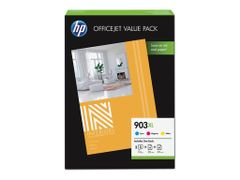 HP 903XL Office Value Pack - 3-pack - Høy ytelse - farge (cyan, magenta, gul) - original - blekkpatron