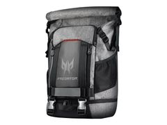 "Acer Predator Gaming Rollup Backpack - Notebookryggsekk - 15"" - grå, svart, røde aksenter"