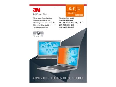 "3M personvernfilter i gull for 12.5"" Laptop with COMPLY Attachment System - Notebookpersonvernsfilter - 12,5"" bredde - gull (GF125W9B)"