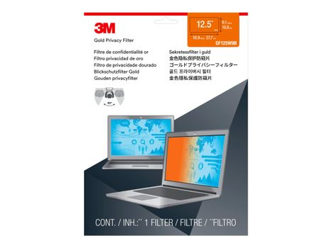 """3M personvernfilter i gull for 12.5"""" Laptop with COMPLY Attachment System notebookpersonvernsfilter (GF125W9B)"""