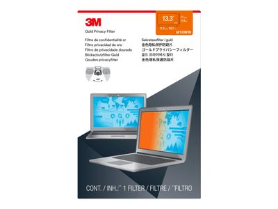 "3M personvernfilter i gull for 13.3"" Laptop (16:10) with COMPLY Attachment System notebookpersonvernsfilter (GF133W1B)"