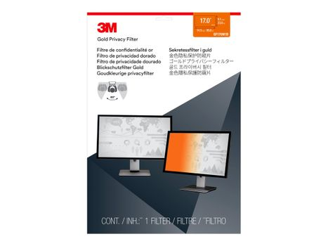 """3M personvernfilter i gull for 17"""" Laptop with COMPLY Attachment System notebookpersonvernsfilter (GF170W1B)"""