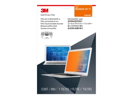 "3M personvernfilter i gull for 11"" Apple MacBook Air notebookpersonvernsfilter (GFNAP001)"