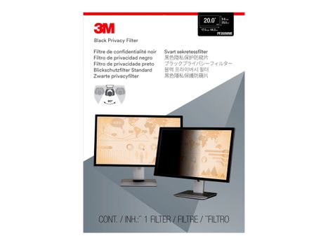 """3M personvernfilter for 20"""" Monitors 16:9 - personvernfilter for skjerm - 20""""-bredde (PF200W9B)"""