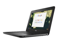"""DELL Chromebook 11 3180 - Celeron N3060 / 1.6 GHz - Chrome OS - 4 GB RAM - 32 GB eMMC - 11.6"""" 1366 x 768 (HD) - HD Graphics 400 - Wi-Fi - svart - BTS - med 1 Year Dell Collect and Return Service"""