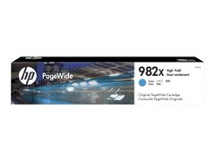 HP 982X - 116 ml - Høy ytelse - cyan - original - PageWide - blekkpatron - for PageWide Enterprise Color 765, MFP 780; PageWide Enterprise Color Flow MFP 785