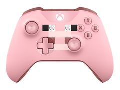 Microsoft Xbox Wireless Controller - Minecraft Pig - håndkonsoll - trådløs - Bluetooth - rosa - for PC, Microsoft Xbox One, Microsoft Xbox One S, Microsoft Xbox One X