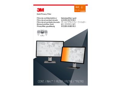 "3M personvernfilter i gull for 24"" Widescreen Monitor - personvernfilter for skjerm - 24"" bredde (GF240W9B)"