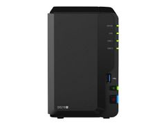 Synology Disk Station DS218+ - NAS-server - 2 brønner - SATA 6Gb/s / eSATA 6Gb/s - RAID 0, 1, JBOD - RAM 2 GB - Gigabit Ethernet - iSCSI