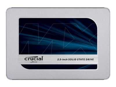 "Crucial MX500 - Solid State Drive - kryptert - 1 TB - intern - 2.5"" - SATA 6Gb/s - 256-bit AES - TCG Opal Encryption 2.0 (CT1000MX500SSD1)"