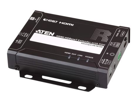 ATEN VanCryst VE1812R HDMI HDBaseT Receiver with POH - video/ lyd/ infrarød/ seriell-utvider - HDBaseT (VE1812R-AT-G)