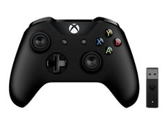 Microsoft Xbox Controller + Wireless Adapter for Windows 10 - Håndkonsoll - trådløs - Bluetooth - for PC, Microsoft Xbox One, Microsoft Xbox One S, Microsoft Xbox One X