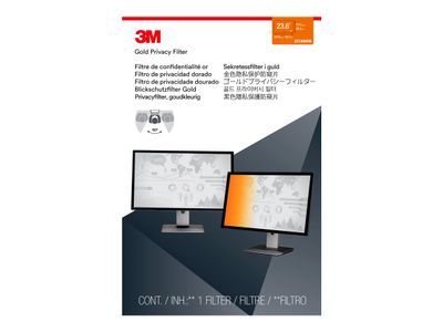 "3M personvernfilter i gull for 23.6"" Widescreen Monitor - Personvernfilter for skjerm - 23.6"" - gull (98044065674)"